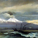 Orest Adamovich Kiprensky - Kind of Vesuvius in the winter. 1830. Petrodvorets