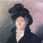 Orest Adamovich Kiprensky - Portrait of Madame Vallo, educators in the family collectors and art lovers AR Tomilova. 1813. IT. K., pastes. 24. 5h19. 5. GTG