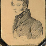 Orest Adamovich Kiprensky - Portrait of an unknown young man with a folder. 1820-e. B., um. c. 19h16 Moose. Tropinin M.