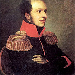 Orest Adamovich Kiprensky - Portrait of Prince George Petrovich of Oldenburg. 1811 AD, m. 29. 5h24. 2. Pavlovsky bits. Moose.