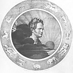Orest Adamovich Kiprensky - Alexander I (in a circle with the signs of the zodiac). 1825. Lithograph. 54h38. GRM