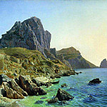 Lev (1827-1905) Lagorio - On the island of Capri. Cliffs. 1859