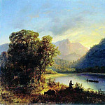 Lev (1827-1905) Lagorio - Mountain Lake. 1852