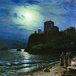 Lev (1827-1905) Lagorio - Moonlight on the sea. 1886