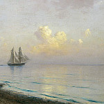 Lev (1827-1905) Lagorio - Seascape with sailboats. 1891