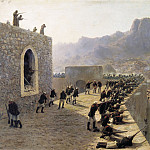 Lev (1827-1905) Lagorio - Rebuffed by storming the fortress Bayaset June 8/1877. 1891. Oil on canvas.