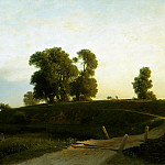 Lev (1827-1905) Lagorio - Lahta view in the vicinity of St. Petersburg. 1850. Oil on canvas.