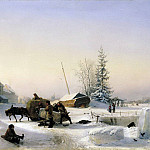 Lev (1827-1905) Lagorio - Ice delivering. 1849