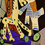 1949 Claude Е deux ans avec son cheval Е roulettes, Pablo Picasso (1881-1973) Period of creation: 1943-1961