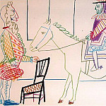 1954 Le roi Е cheval et modКle VII, Pablo Picasso (1881-1973) Period of creation: 1943-1961