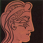 1959 TИte de femme de profil, Pablo Picasso (1881-1973) Period of creation: 1943-1961