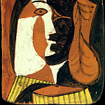 1948 Lastre decorВ dune tИte de femme, Pablo Picasso (1881-1973) Period of creation: 1943-1961