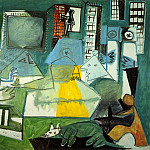 1957 Les Menines- Vue densemble sauf VВlasquez , Pablo Picasso (1881-1973) Period of creation: 1943-1961