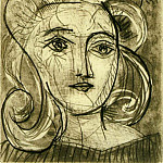 1945 TИte de femme 3, Pablo Picasso (1881-1973) Period of creation: 1943-1961
