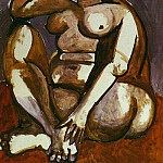 1956 Femme nue accroupie, Pablo Picasso (1881-1973) Period of creation: 1943-1961