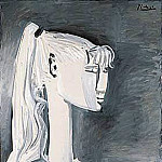 1954 Portrait de Sylvette David 13, Pablo Picasso (1881-1973) Period of creation: 1943-1961