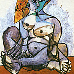 1955 Jacqueline nue au bonnet turc, Pablo Picasso (1881-1973) Period of creation: 1943-1961