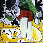 1954 Paloma jouant devant le jardin, Pablo Picasso (1881-1973) Period of creation: 1943-1961