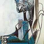 1954 Portrait de Sylvette David 28, Pablo Picasso (1881-1973) Period of creation: 1943-1961