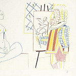 1954 Le peintre et son modКle II, Pablo Picasso (1881-1973) Period of creation: 1943-1961