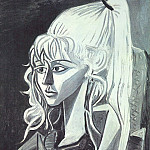 1954 Portrait de Sylvette David 21, Pablo Picasso (1881-1973) Period of creation: 1943-1961