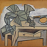 1947 Nature morte au coq et au couteau, Pablo Picasso (1881-1973) Period of creation: 1943-1961