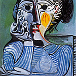 1961 Femme au chapeau jaune , Pablo Picasso (1881-1973) Period of creation: 1943-1961