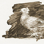 1947 Pigeon sur fond gris, Pablo Picasso (1881-1973) Period of creation: 1943-1961