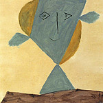 Pablo Picasso (1881-1973) Period of creation: 1943-1961 - 1946 TИte de faune vert