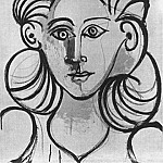 1944 Portrait de femme 2, Pablo Picasso (1881-1973) Period of creation: 1943-1961