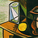 1944 Verre et pichet, Pablo Picasso (1881-1973) Period of creation: 1943-1961