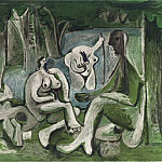 1960 Le dВjeuner sur lherbe , Pablo Picasso (1881-1973) Period of creation: 1943-1961