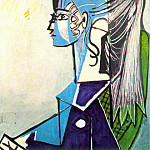 1954 Portrait de Sylvette David 24 au fauteuil vert, Pablo Picasso (1881-1973) Period of creation: 1943-1961