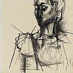 1954 TИte de femme, Pablo Picasso (1881-1973) Period of creation: 1943-1961