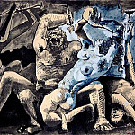 1955 Bacchanale II, Pablo Picasso (1881-1973) Period of creation: 1943-1961