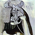 1958 TИte cornue au verre, Pablo Picasso (1881-1973) Period of creation: 1943-1961