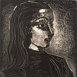 1958 Jacqueline de profil droit III, Pablo Picasso (1881-1973) Period of creation: 1943-1961
