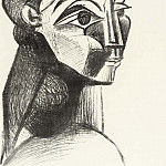 1955 Portrait de femme II, Pablo Picasso (1881-1973) Period of creation: 1943-1961