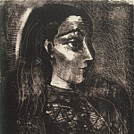 1958 Jacqueline de profil droit II, Pablo Picasso (1881-1973) Period of creation: 1943-1961