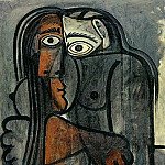 1960 Nu les bras croisВs, Pablo Picasso (1881-1973) Period of creation: 1943-1961