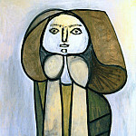 Pablo Picasso (1881-1973) Period of creation: 1943-1961 - 1946 Femme Е la robe verte