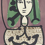 1949 Femme aux cheveux verts I, Pablo Picasso (1881-1973) Period of creation: 1943-1961