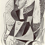 1954 Portrait de Sylvette David 10, Pablo Picasso (1881-1973) Period of creation: 1943-1961