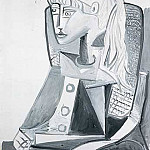 1954 Portrait de Sylvette David 16, Pablo Picasso (1881-1973) Period of creation: 1943-1961