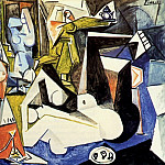 1955 Les femmes dAlger XIV, Pablo Picasso (1881-1973) Period of creation: 1943-1961