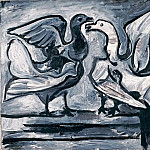 1960 Deux pigeons aux ailes dВployВes I, Pablo Picasso (1881-1973) Period of creation: 1943-1961