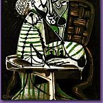 Pablo Picasso (1881-1973) Period of creation: 1943-1961 - 1951 Femme dessinant (FranЗoise)