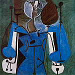1949 Femme assise 2, Pablo Picasso (1881-1973) Period of creation: 1943-1961