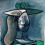 1947 Femme au chapeau 1, Pablo Picasso (1881-1973) Period of creation: 1943-1961