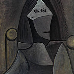 Pablo Picasso (1881-1973) Period of creation: 1943-1961 - 1944 Portrait de femme au fauteuil